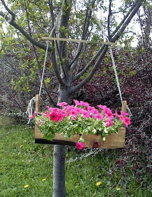 Jardineras de madera elegantes y durables paperblog for Jardineras con palets de madera
