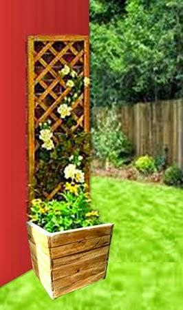 Ideas para arreglar el patio con jardineras de madera for Jardineras con palets de madera