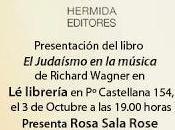 Presentación libro judaísmo música Richard Wagner cargo Rosa Sala Rose