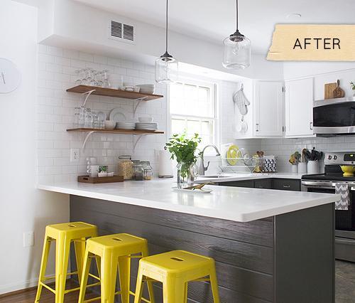 Yellow And Gray Kitchen Ideas: Una Cocina Moderna Y Fresca