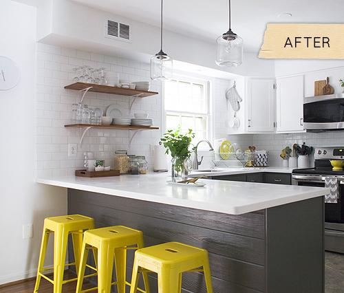 Gray Yellow White Kitchen: Una Cocina Moderna Y Fresca