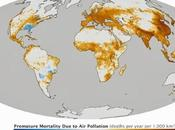 Mapa global número fallecimietos contaminación aire