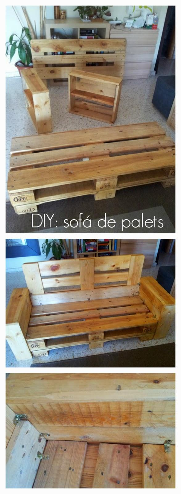 Diy c mo hacer un sof con palets paperblog - Construir sofa con palets ...