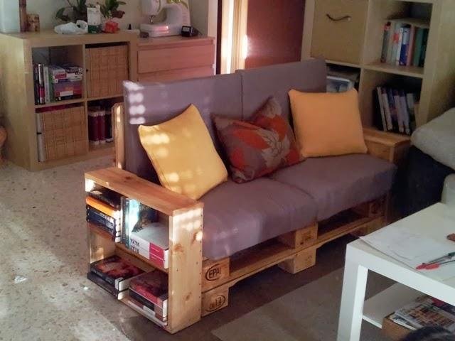 Diy c mo hacer un sof con palets paperblog - Como hacer un sofa de palets ...