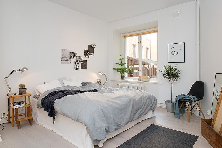 Dormitorio estilo nórdico con piezas antiguas - Paperblog