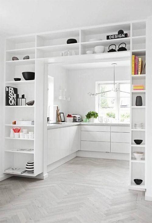 Cocinas en blanco paperblog - Cocinas lacadas en blanco ...
