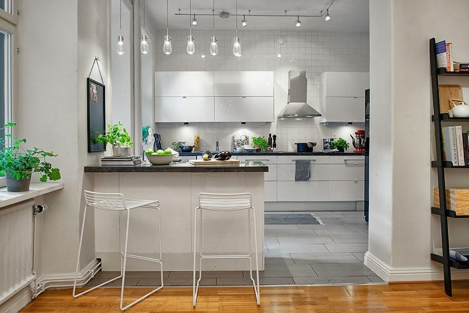 Mezcla de estilos en un piso sueco paperblog Distribucion de cocinas