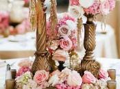 Centros mesa para bodas flores