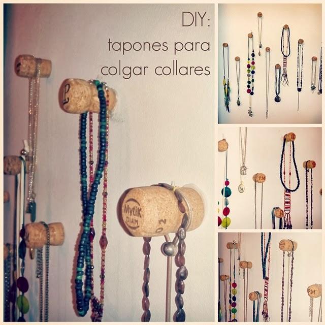 Diy tapones de champagne en la pared para colgar collares paperblog - Colgador de collares ikea ...