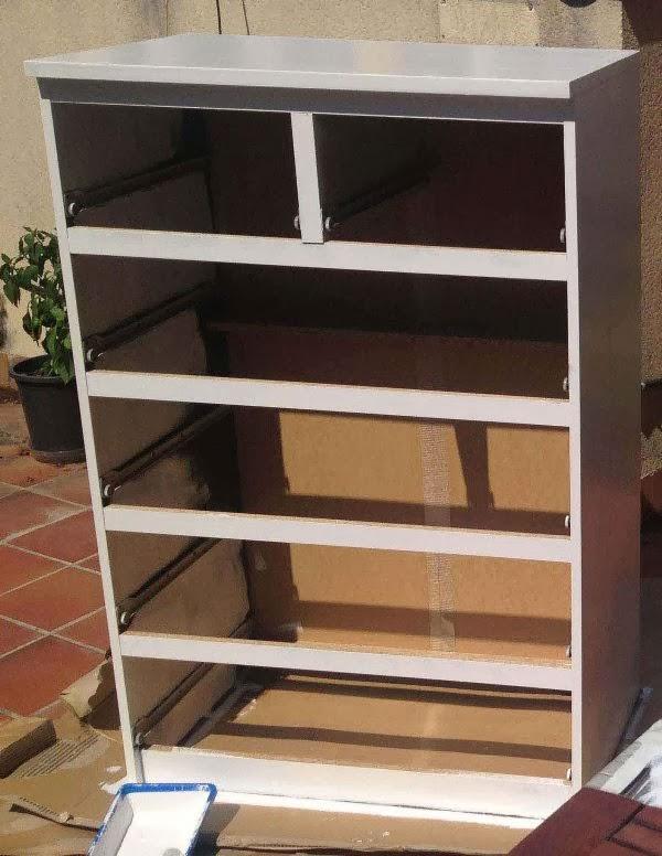 Mueble malm ikea dressing table shabby chic ikea malm - Comodas ikea 6 cajones ...