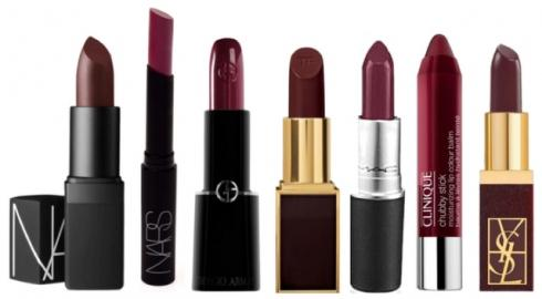 lipsticks burdeos