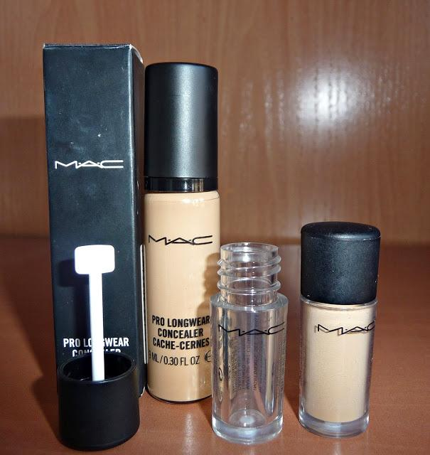 MAC: Pro long wear concealer y sombras Twinks y Satin taupe
