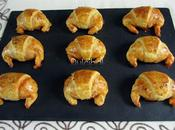 Mini croissants chorizo queso