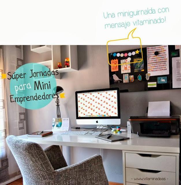 Una miniguirnalda para tu s per espacio de trabajo for Como decorar mi puesto de trabajo