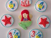 Galletas decoradas sirenita para cumpleaños