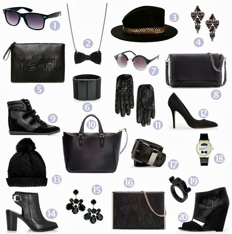 SHOPPING: Black Accesories