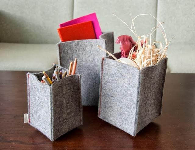 DIY CESTAS DE FIELTRO/ FELT BASKETS