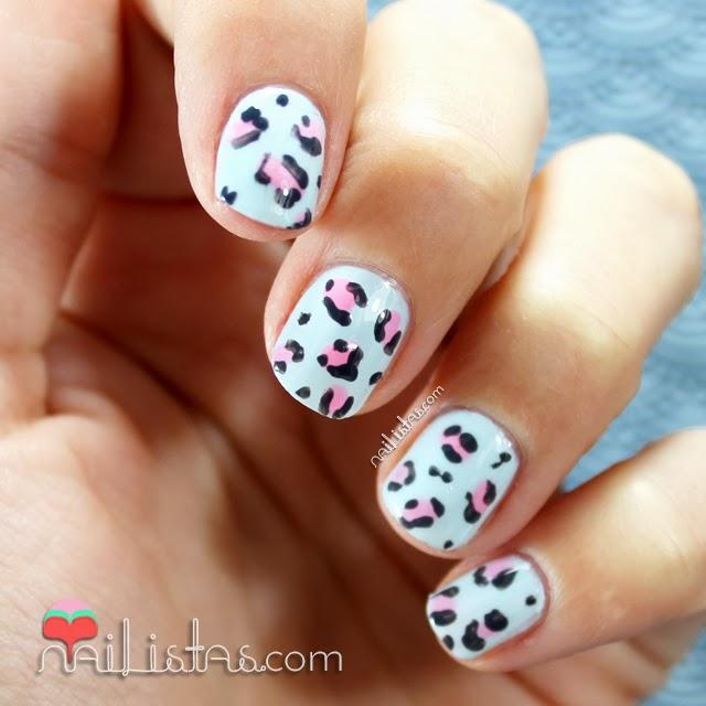 Uñas Decoradas Con Leopardo Baby Nail Art Infantil Paperblog