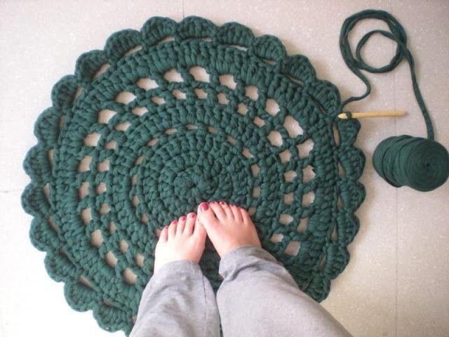 12 ideas para hacer con trapillo o crochet xxl paperblog - Tutorial alfombra trapillo ...