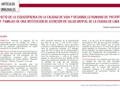 Impacto esquizofrenia calidad vida desarrollo humano personas familiares Humberto Castillo