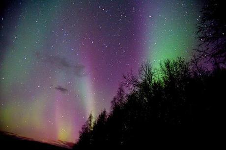 Aurora boreal en Fairbanks, Alaska