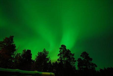 Aurora boreal en Karasjok, Noruega
