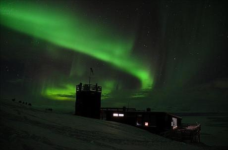 Aurora boreal en Abisko, Suecia