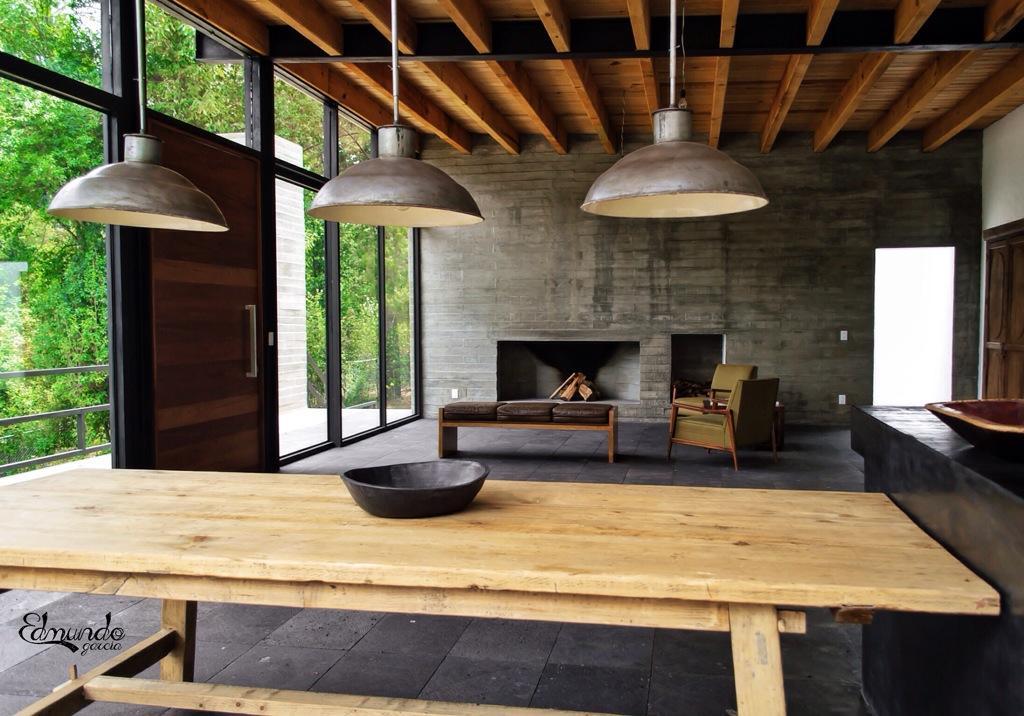 Estilo industrial contempor neo en valle de bravo paperblog for Casas de estilo industrial
