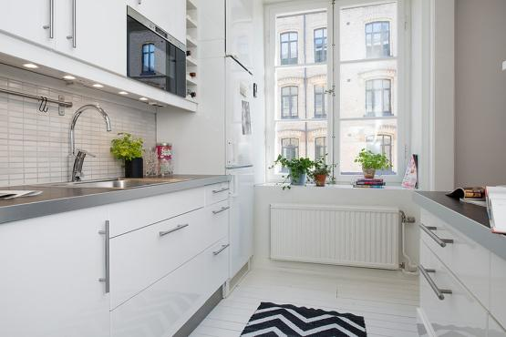 El mini piso de una apasionada de los zapatos paperblog Cocinas pisos pequenos