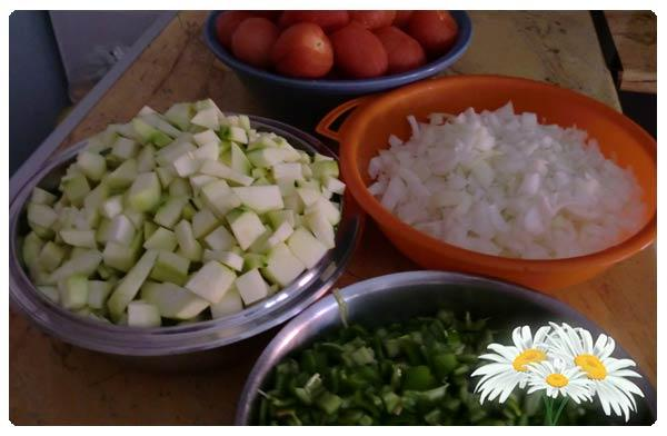 Picamos los Ingredientes.