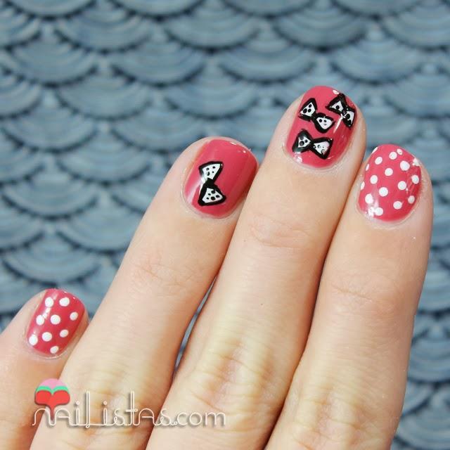 Uas decoradas con lacitos Nail art Paperblog