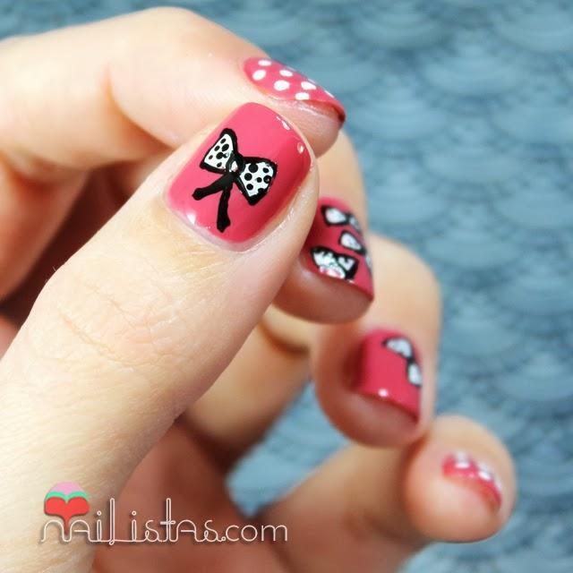 Uñas decoradas con lacitos | Nail art - Paperblog