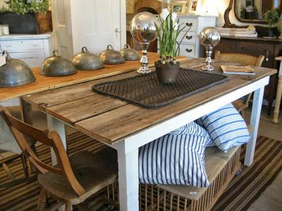 Mesas rusticas y de carpintero paperblog - Mesas rusticas de cocina ...