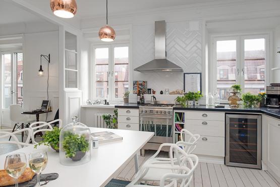 Precioso estilo n rdico lleno de texturas y detalles - Cocinas estilo nordico ...