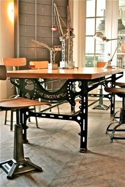 Reutilizar mesas de m quinas de coser antiguas paperblog for Como reciclar una mesa de tv vieja