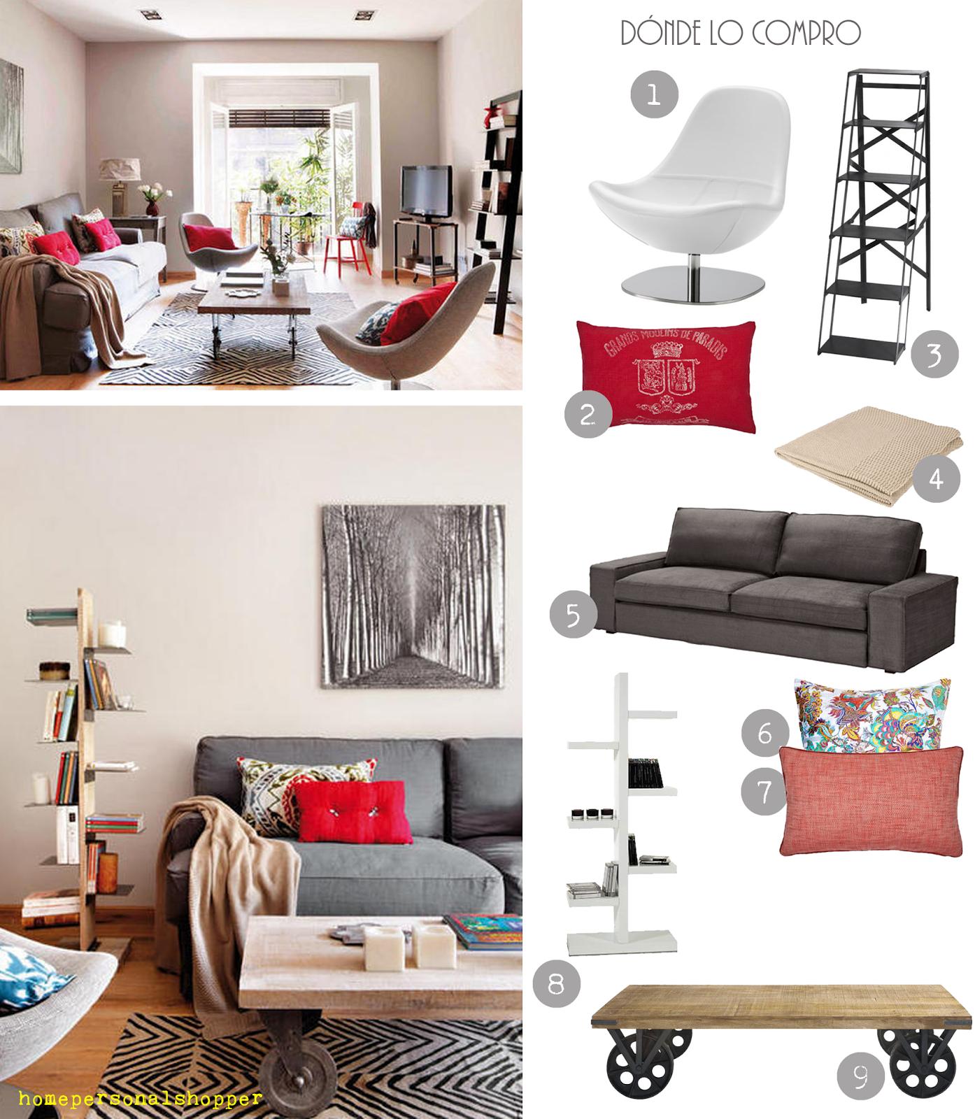 Un piso acogedor y actual d nde comprar paperblog for Donde amueblar un piso barato