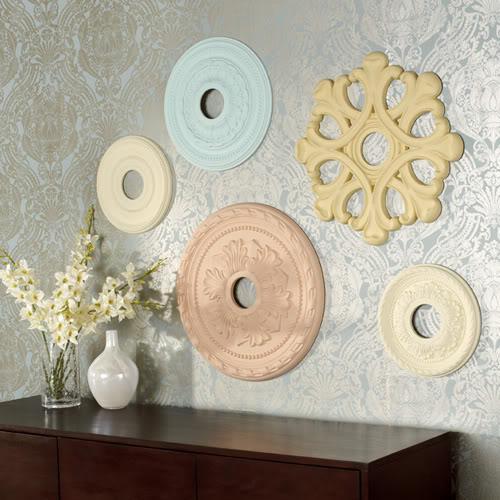 Decorar las paredes con medallones de escayola paperblog - Decorar con escayola ...