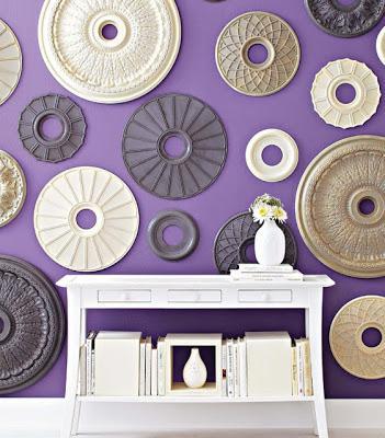 Decorar las paredes con medallones de escayola paperblog - Rosetones de escayola ...