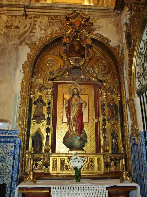 Iglesia de Santa María la Blanca (9): Retablo del Sagrado Corazón de Jesús. -...