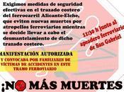 muertes vías cercanías Alicante-Murcia! Manifestación