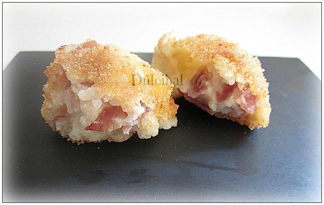bolitas de patata y jamon iberico
