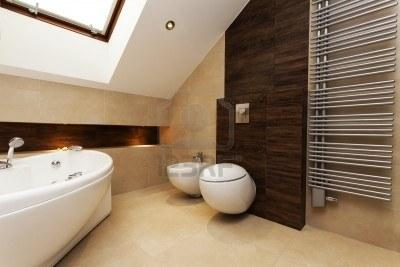Baños modernos con tina - Paperblog
