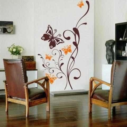Vinilos decorativos para salas paperblog Decoracion de salas con espejos en la pared