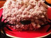 Tarta monstruo peludo para halloween