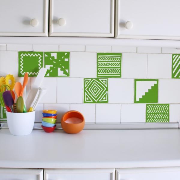 Vinilos decorativos para renovar tu cocina paperblog Vinilo para azulejos