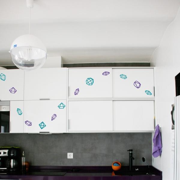 vinilo con los que podemos decorar azulejos, los muebles de la cocina