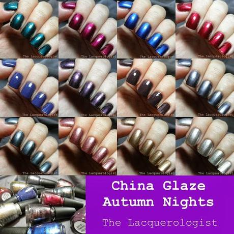 Autumn Nights Fall 2013 Collection China Glaze swatches