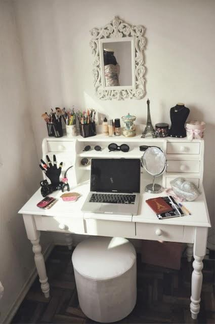 Diy ideas tocador de maquillaje paperblog for Beauty table tumblr