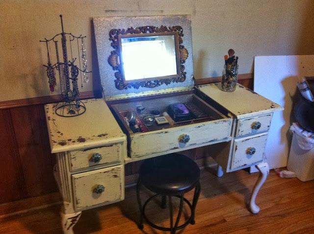 Diy ideas tocador de maquillaje paperblog - Habitacion con tocador ...