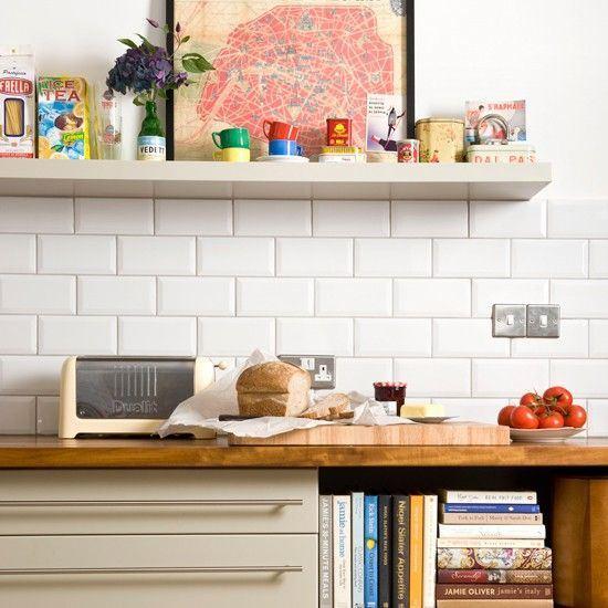 Azulejos biselados en la cocina paperblog for Azulejo metro cocina